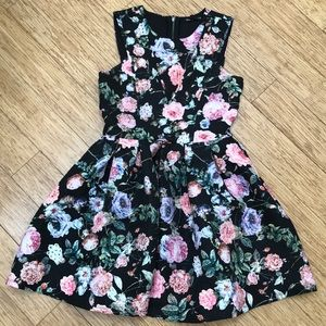 Miss Behave Girls floral dress fit and flare
